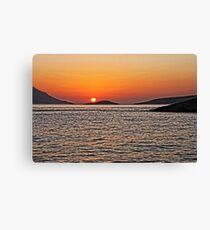 Rhodes Sunset Canvas Print