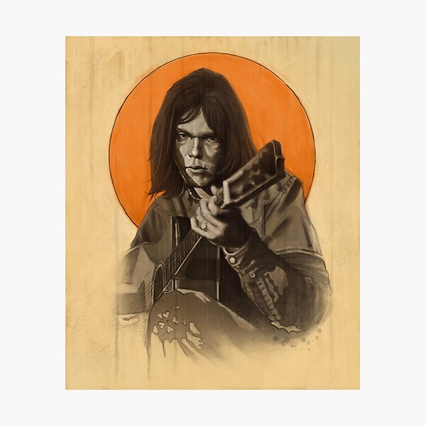 Neil Young Harvest Photographic Print
