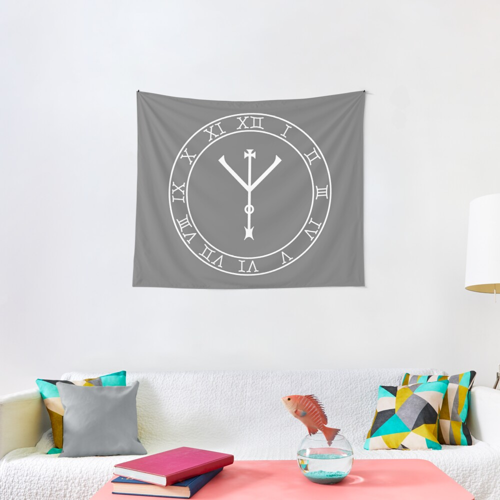 Protection Wheel (in white) Tapestry
