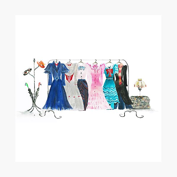 Mary Poppins Returns Costume Wardrobe Photographic Print