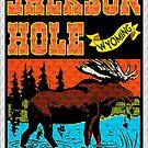 JACKSON HOLE WYOMING TETON VINTAGE MOUNTAINS MOOSE VINTAGE PRISM SKIING SKI by MyHandmadeSigns
