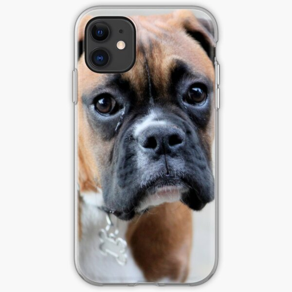Dino - A Boxer Portrait - Boxer Dogs Series iPhone Soft Case