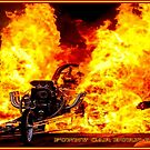 FUNNY CAR BURN-OUT : Vintage Advertising Print by posterbobs