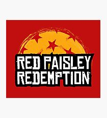 Red Paisley Redemption Photographic Print