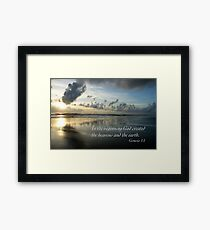 Genesis One Framed Print