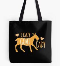 Crazy GOAT lady Tote Bag