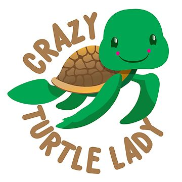 Crazy Turtle Lady (circle) new cute turtle by jazzydevil