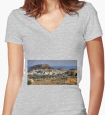 Between a Rock and a Hard Place Women's Fitted V-Neck T-Shirt