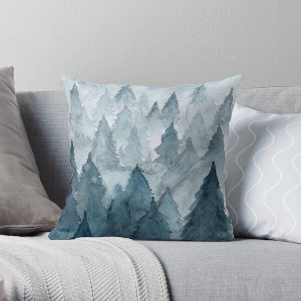 Clear Winter Throw Pillow