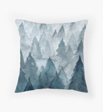 Clear Winter Throw Pillow
