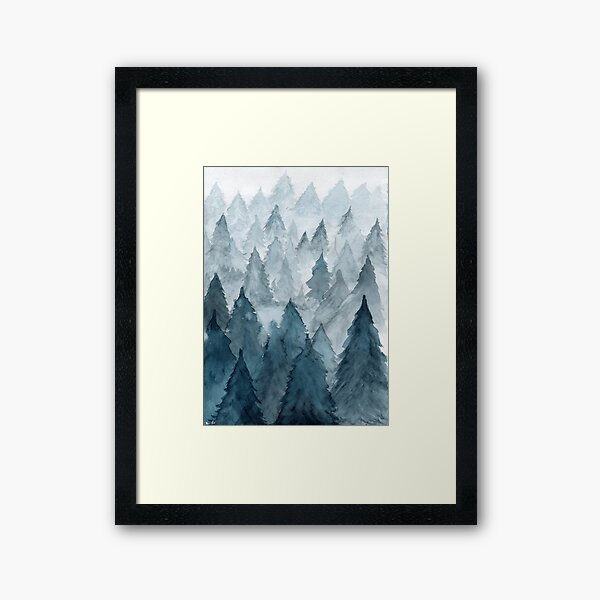 Clear Winter Framed Art Print