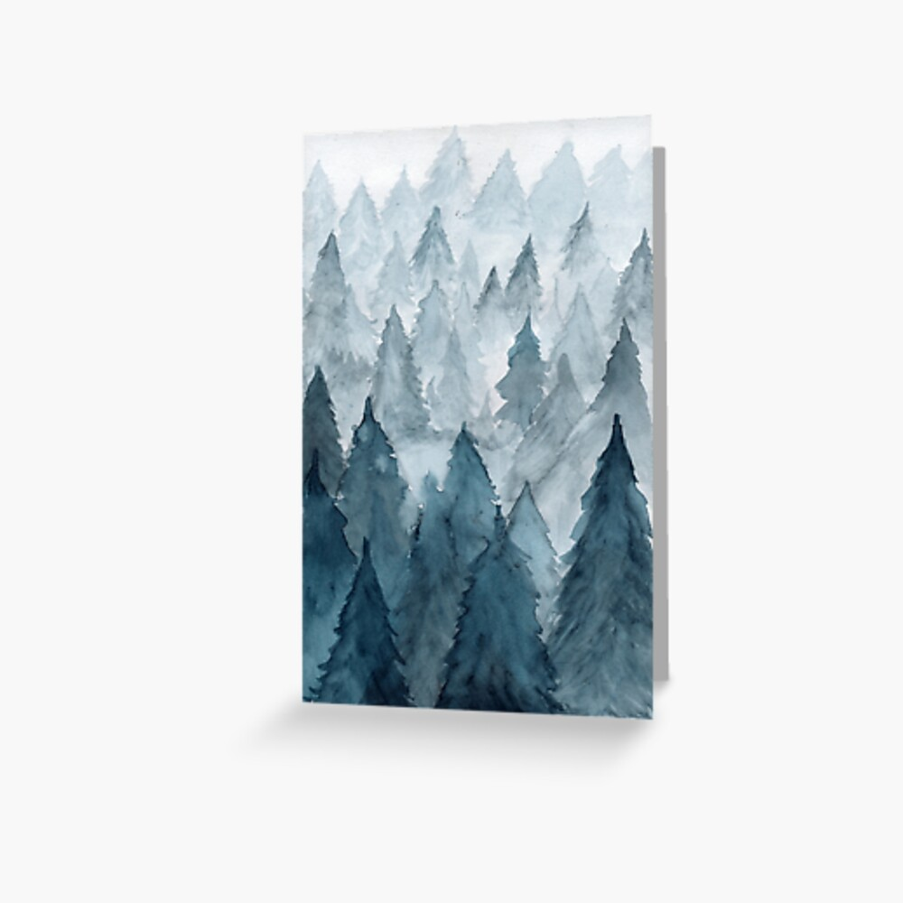 Clear Winter Greeting Card