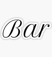 Bar Sticker