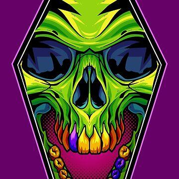 Coffin Skull by artdyslexia
