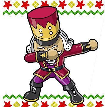 Dabbing Nutcracker Ugly Christmas by frittata