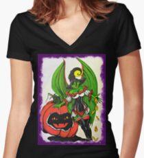 Halloween Fairy Women's Fitted V-Neck T-Shirt