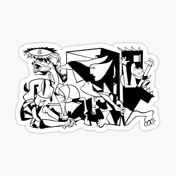 Pablo Picasso Guernica 1937 Artwork Reproduction Sticker