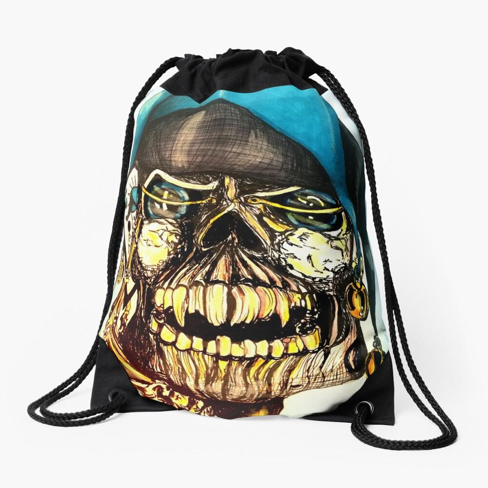Original Joker Skull Drawing Drawstring Bag