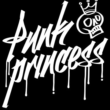 Punk Princess skull graffiti goth skater emo punk t-shirt by e2productions