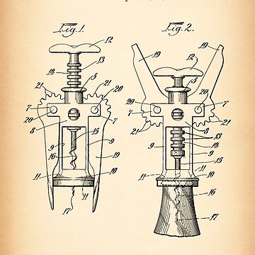 CORK EXTRACTOR vintage patent by muharko