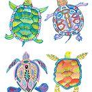 Sea turtles tropical theme by Andreea Dumez