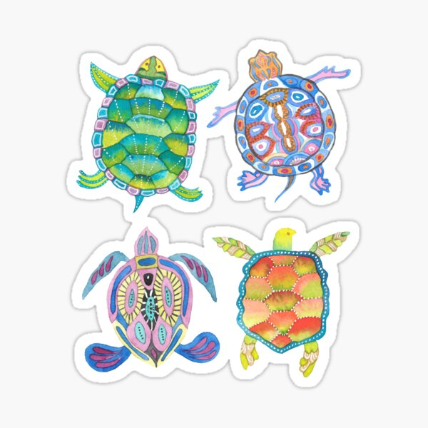 Sea turtles tropical theme Sticker