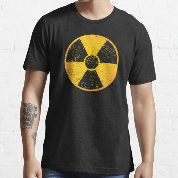 Nuclear Power Danger Symbol Atomic Radioactive  Essential T-Shirt