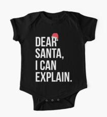 Cute Kids Christmas T-Shirt - Dear Santa, I Can Explain One Piece - Short Sleeve