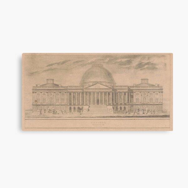 Vintage United States Capitol Building Illustration  Canvas Print