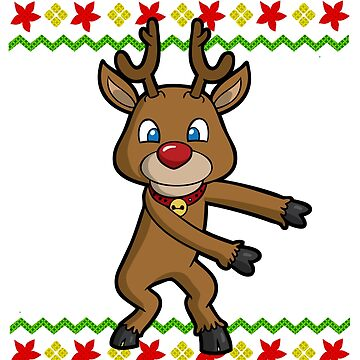 Flossing Reindeer Ugly Christmas by frittata