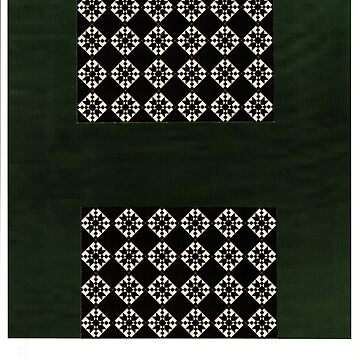 Green Christmas design black and green by AlyinWonderland