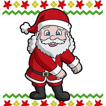 Flossing Santa Claus Ugly Christmas by frittata