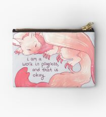 """""""I am a work in progress, and that is okay"""" Snuggly Gargoyle Dragon Studio Pouch"""