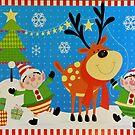 Elves and Reindeer by FrankieCat