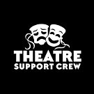 THEATRE support crew with happy sad masks in white by jazzydevil