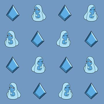 Steven Universe - Blue Diamond Repeating Pattern by Galaxxi