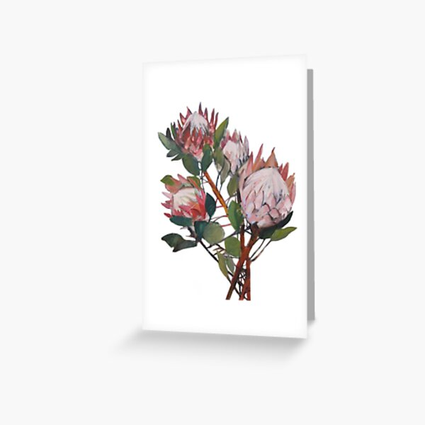 A Bunch of King Proteas  Greeting Card