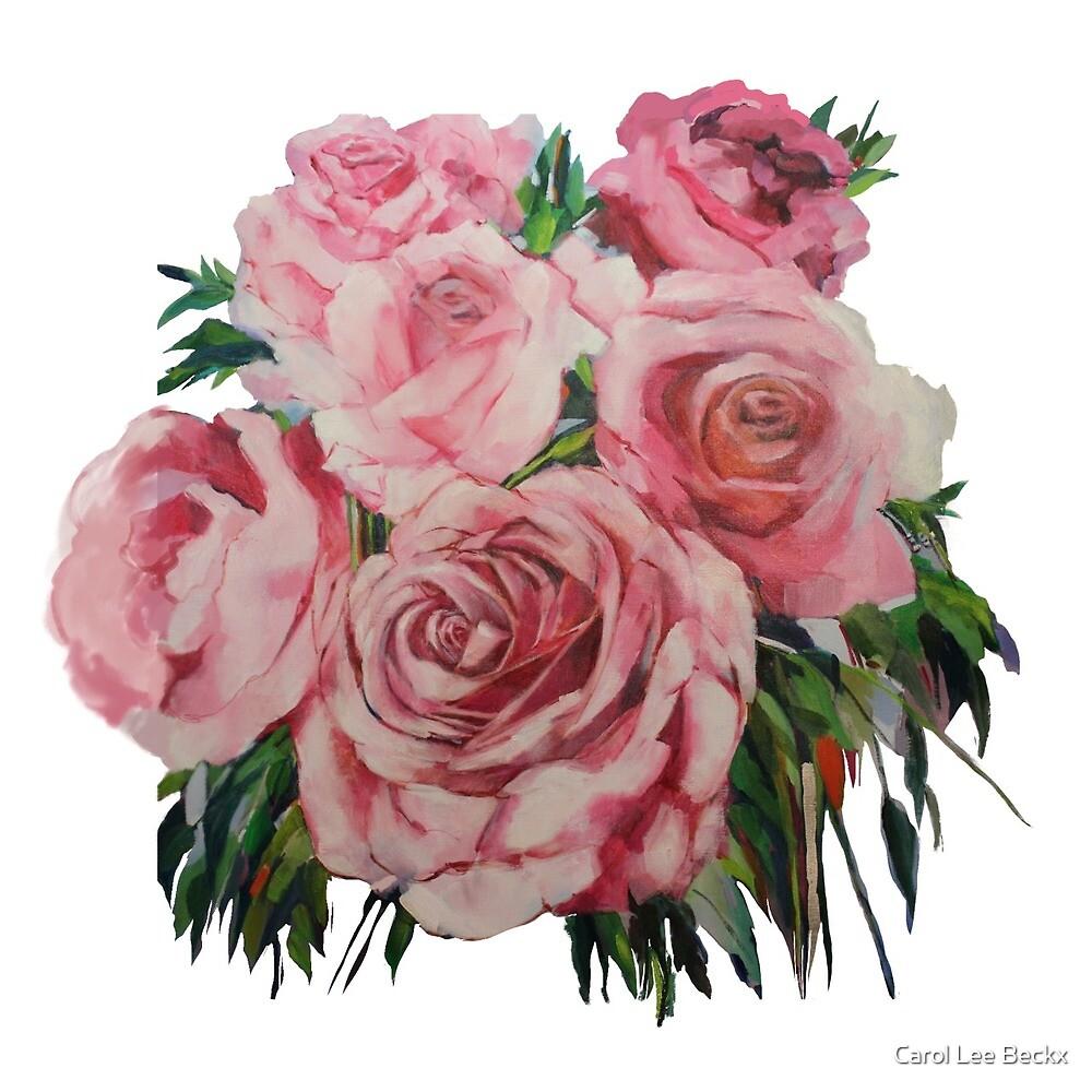 Pink Roses  by Carol Lee Beckx