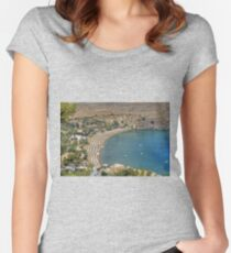 Lindos Bay Women's Fitted Scoop T-Shirt