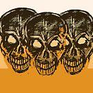 The 3 Skulls  by stitchgrin