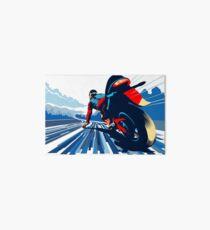 Motor racer speed demon Art Board