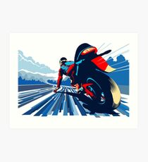 Motor racer speed demon Art Print