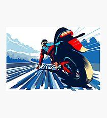 Motor racer speed demon Photographic Print