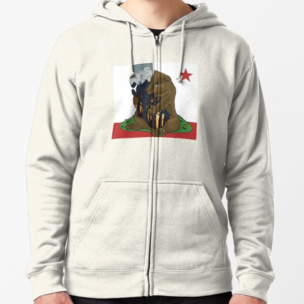 California fires - ARTIST PROCEEDS DONATED TOWARDS WILDFIRE RELIEF Zipped Hoodie