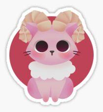 Cat Zodiac - Aries Sticker