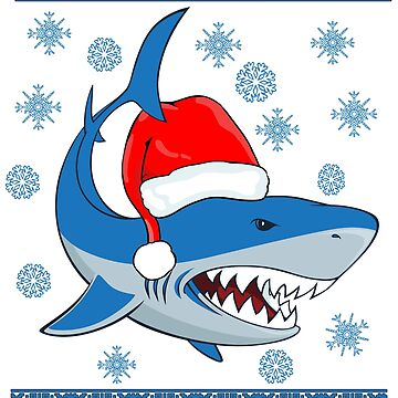 Ugly Christmas Sweater Shark T-shirt Underwater creature tee by kmpfanworks