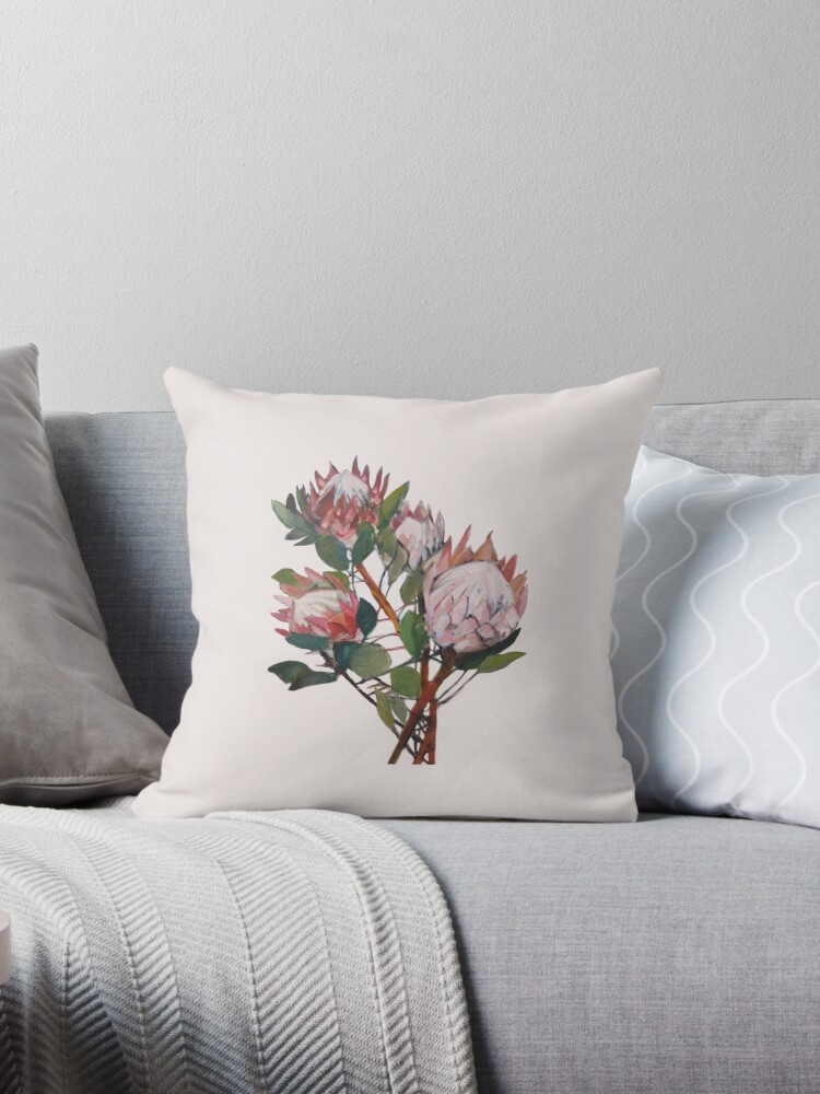 Quot A Bunch Of King Proteas Quot Throw Pillows By Carol Lee