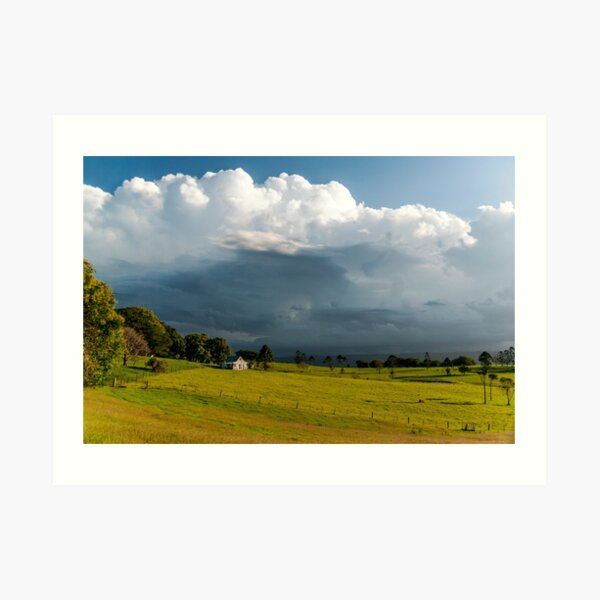 Storm Clouds Approaching, Maleny Art Print