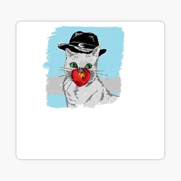 Apple Cat Sticker