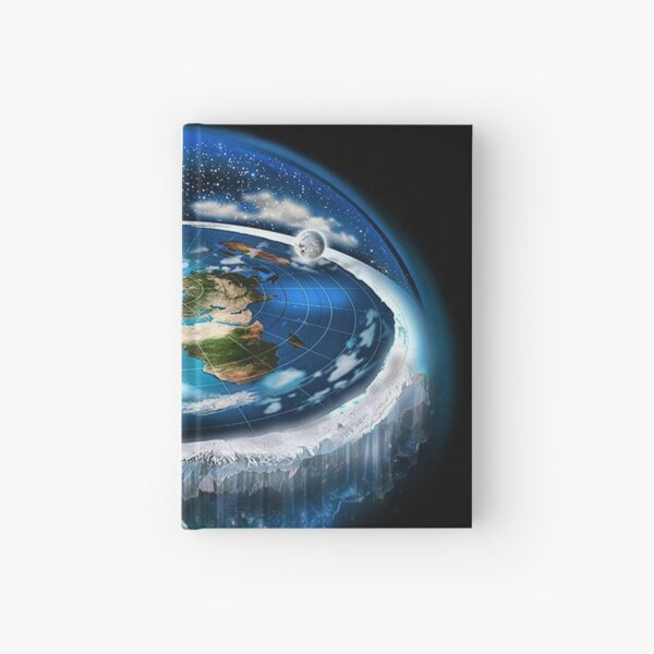 Flat Earth with Dome Art Hardcover Journal